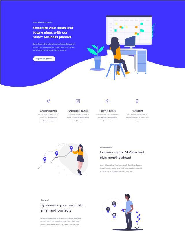 Jevelin шаблон WordPress для стартапа