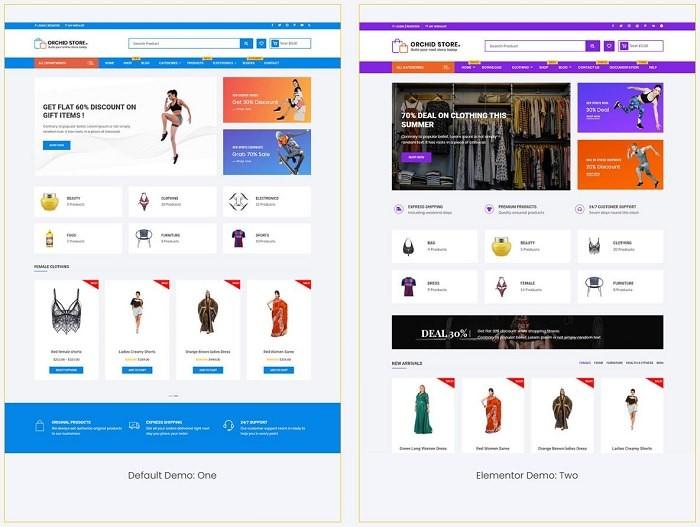 Orchid Store тема для онлайн магазина на Вордпресс