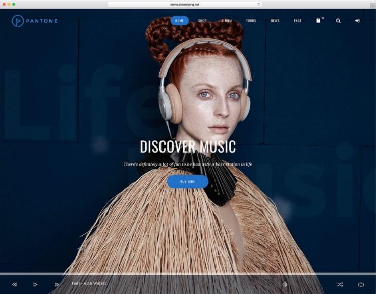 Pantone тема для музыкальных предприятий