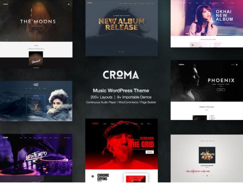 Croma тема для сайта музыкального журнала