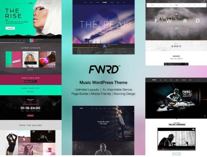 FWRD тема для сайта музыкального журнала
