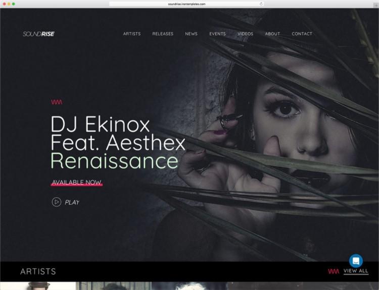 SoundRise тема для музыкального продакшена
