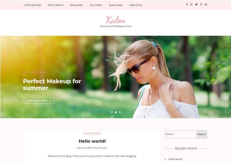 Kalon тема для женского веб сайта