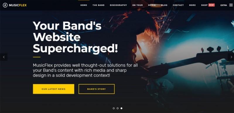 MusicFlex тема для сайта музыкальной индустрии WordPress