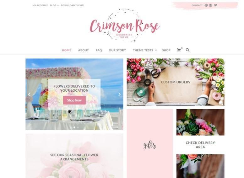 Crimson Rose тема для модного блога