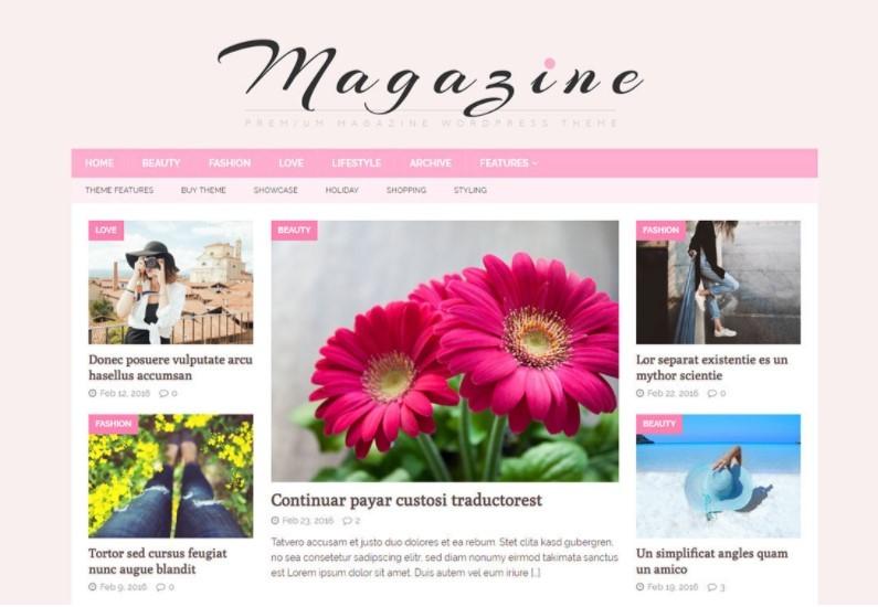 MH FeminineMag тема для женского онлайн журнала