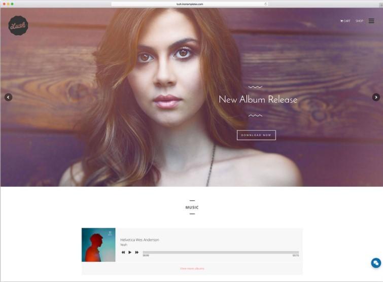 Lush тема для сайтов музыкальных групп и исполнителей WordPress
