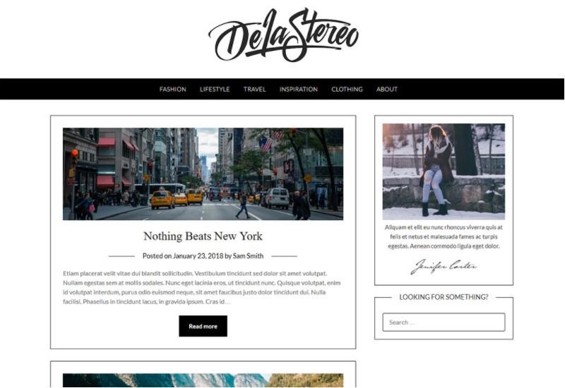 Pink Personal Blogily тема для блога о туризме
