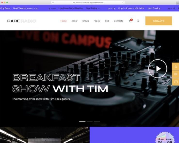 Rare Radio тема для радиостанций и подкастов
