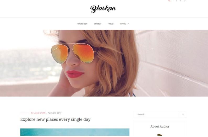 Blaskan тема для личного блога