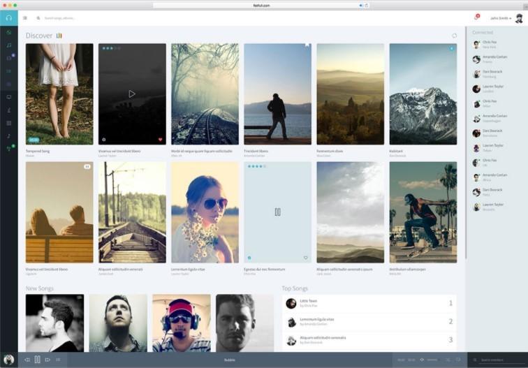 Musik шаблон для музыкального веб-приложения