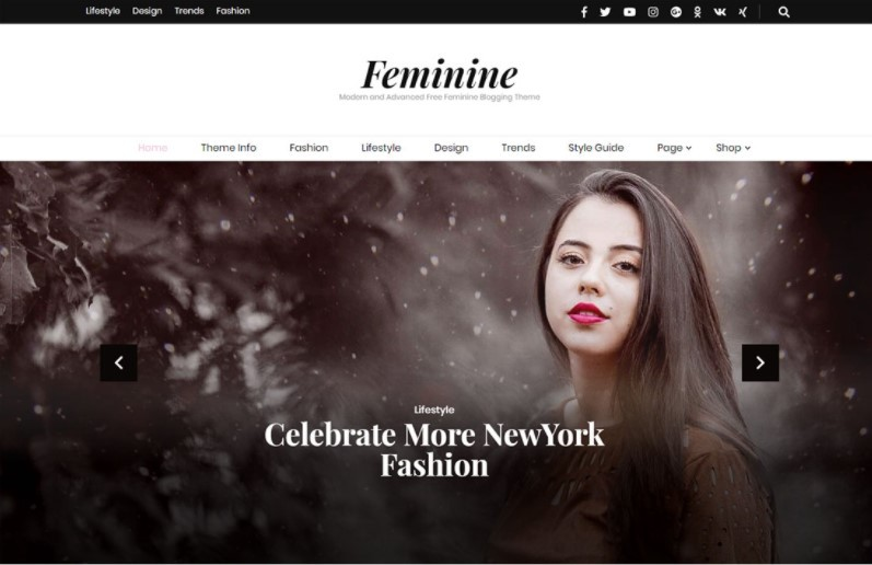 Blossom Feminine тема для личного блога WordPress