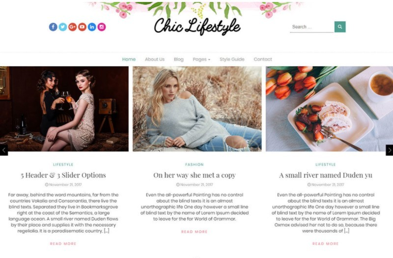 Chic Lifestyle тема для блога о жизни