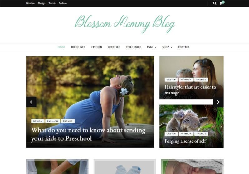 Blossom Mommy темпа WP для блога о моде