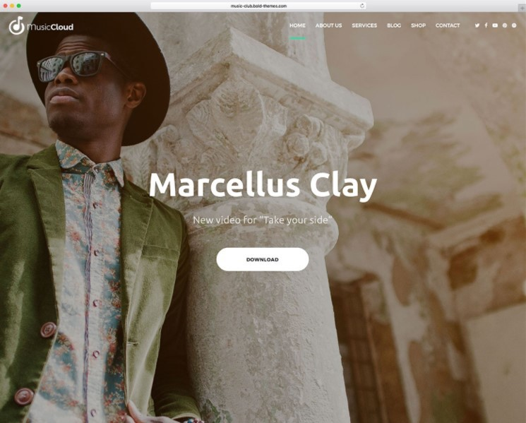 Music Club тема для музыкального сайта