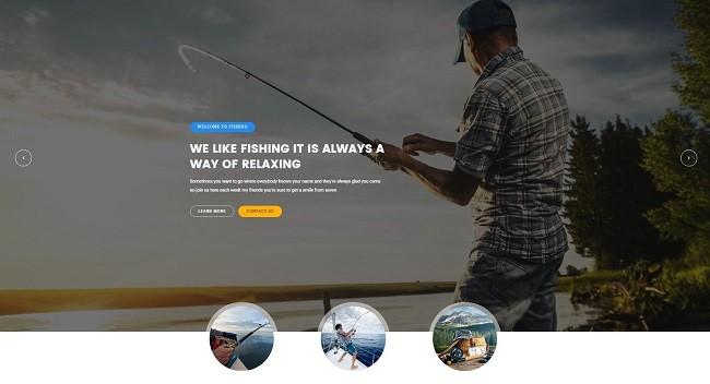 Bovile WordPress шаблон для рыбалки