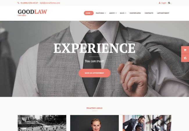 GoodLaw |  A WordPress theme for lawyers and lawyers