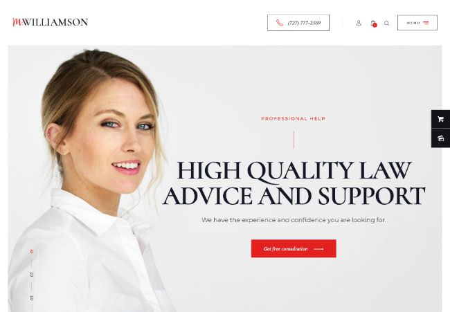 M.Williamson |  Lawyer and Legal Counsel WordPress Theme