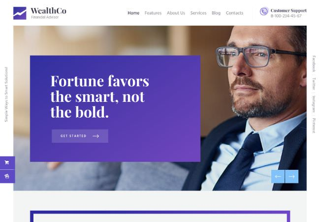 WealthCo |  A new WordPress theme for business and financial consulting