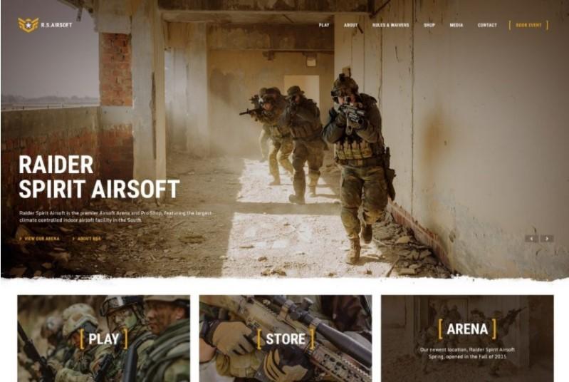 Raider Spirit шблон для киберспортивного сайта