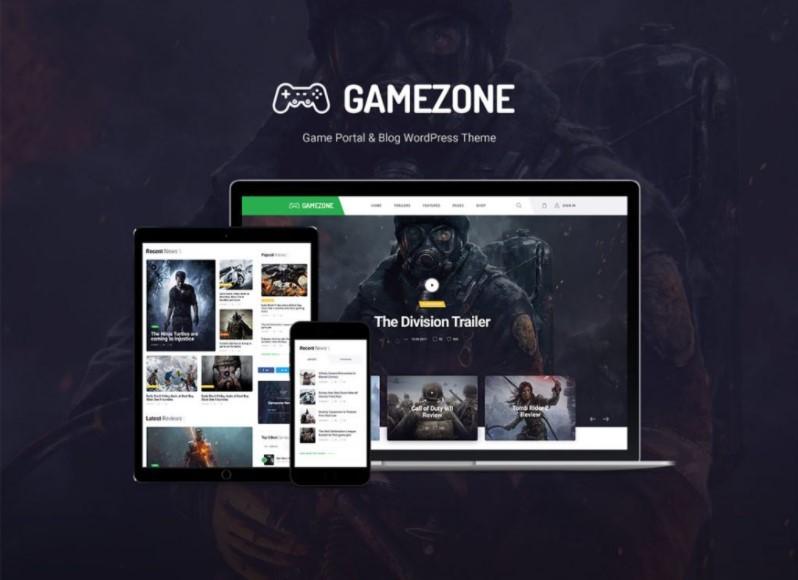 Gamezone шаблон для игрового или киберспортивного сайта