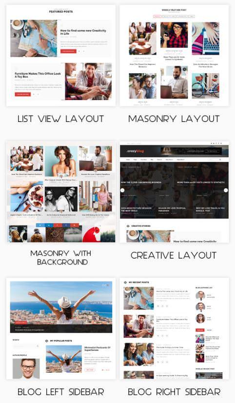 7+ макетов блога