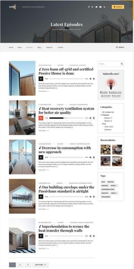 Скриншот темы Vipo