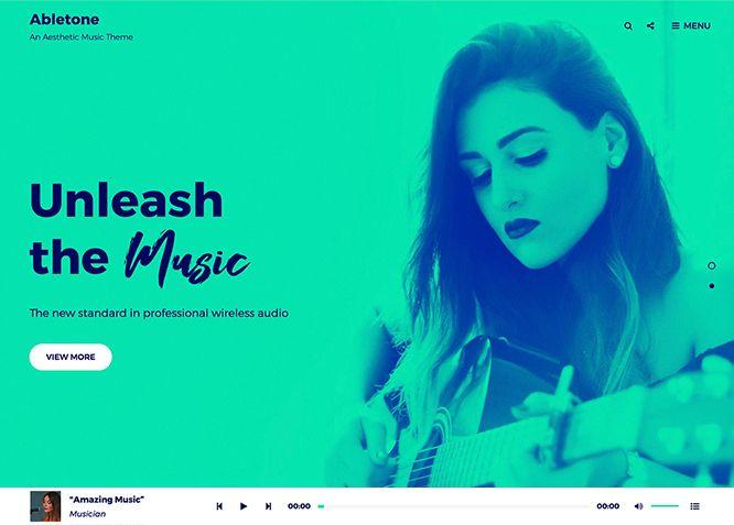 Abletone - это универсальная музыкальная тема WordPress