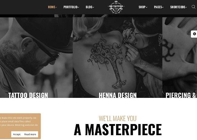 Barber - тема WordPress для тату и салонов красоты