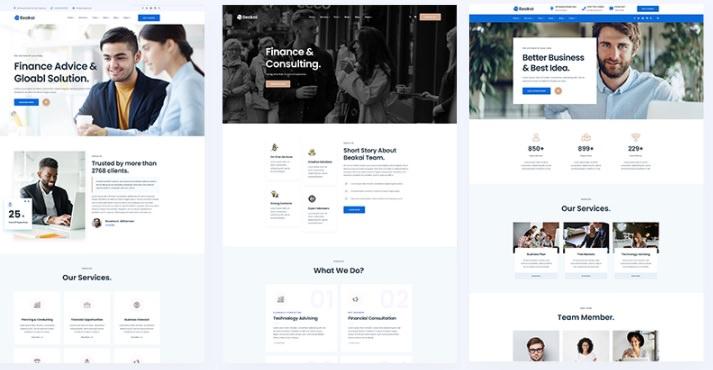 3 различных дизайна домашней страницы