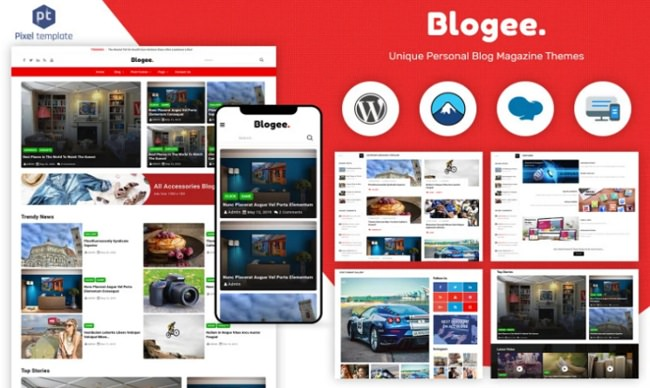 Blogee - Multi-Concept Blog & News
