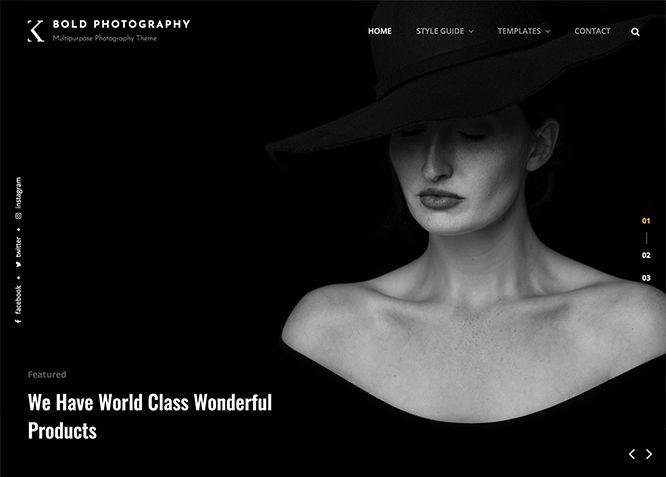 Bold Photography - это бесплатная мрачная многоцелевая тема WordPress для фотографий