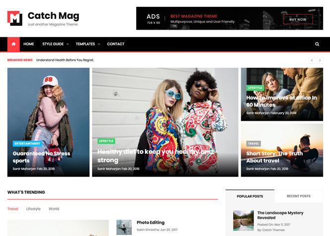 atch Mag - это адаптивная и визуально привлекательная тема WordPress для журналов