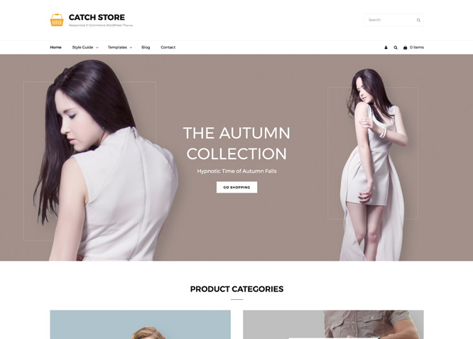 Catch Store - это простая, но надежная бесплатная тема WordPress для электронной коммерции