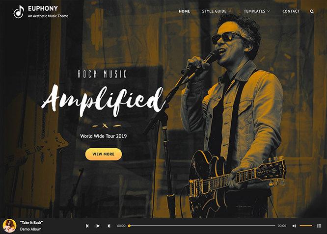 Euphony - это бесплатная музыкальная тема WordPress