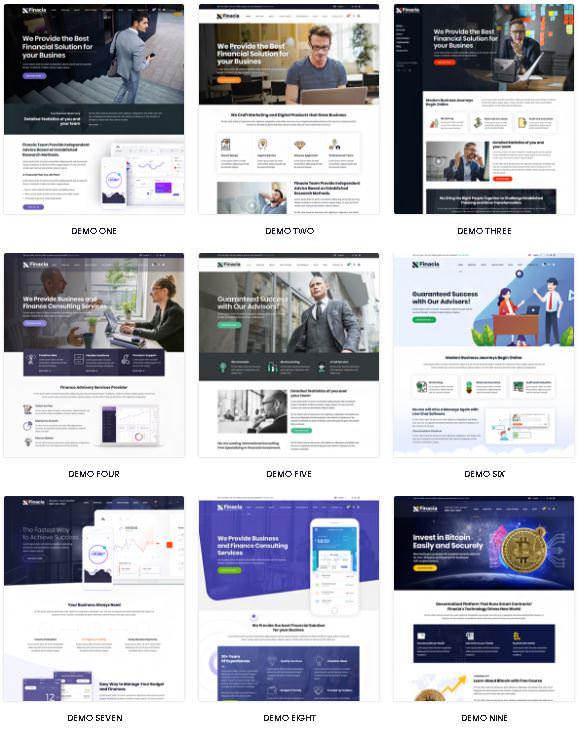 Finacia -тема WordPress для бизнеса, финансов и финансового консалтинга