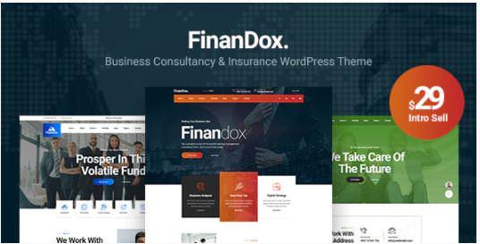 FinanDox - шаблон WordPress для бизнес-консалтинга 2020