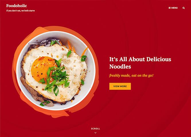 Foodoholic - это простая и эстетичная тема WordPress для ресторанов