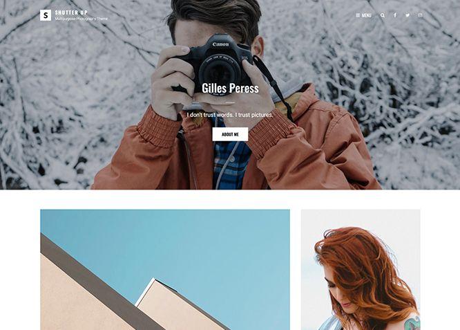 Shutter Up - креативная и элегантная многоцелевая тема WordPress для фотографий