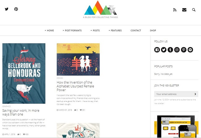 HEAP - адаптивная тема для блога WordPress