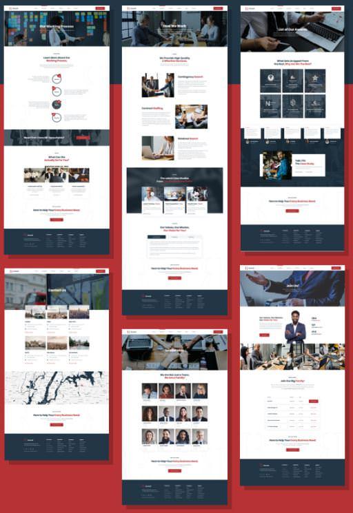 Hryzantema - тема Вордпресс для сайта кадровой компании или менеджера по подбору персонала