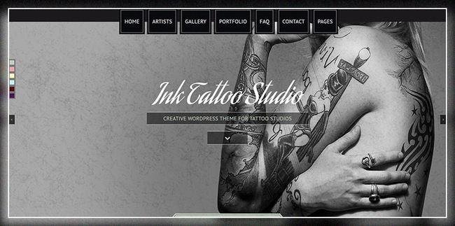 Ink Tattoo Studio - творческая тема WordPress