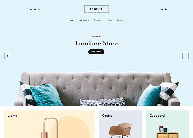 Izabel - это тема WordPress для электронной коммерции