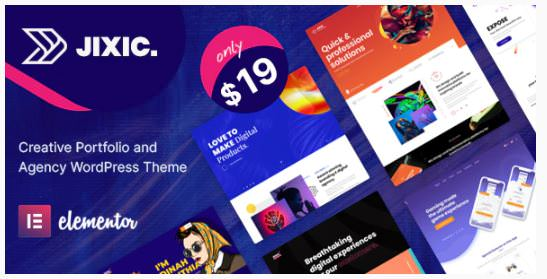 Jixic - тема WordPress для творческого портфолио и агентств 2020