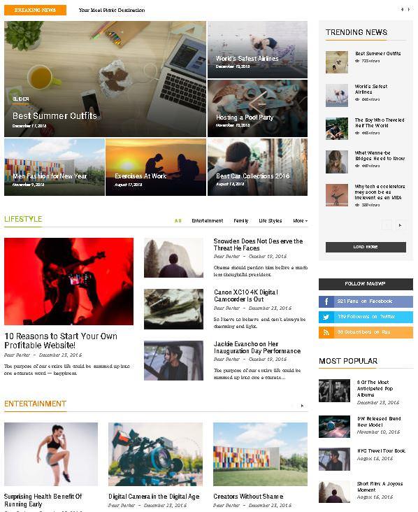 MagWP - тема WordPress для журналов, газет и СМИ 2020
