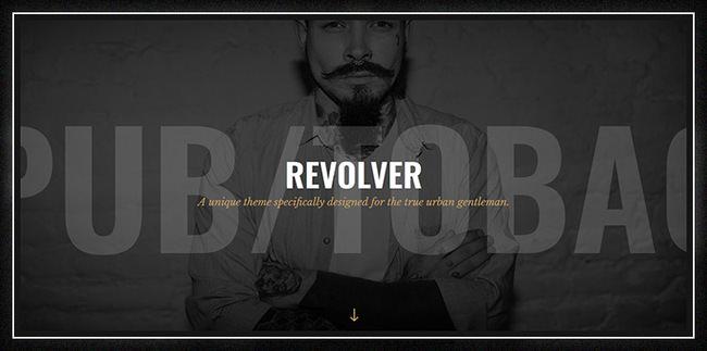 Револьвер - джентльменская тема для тату-салонов, парикмахерских, пабов и байкерских клубов