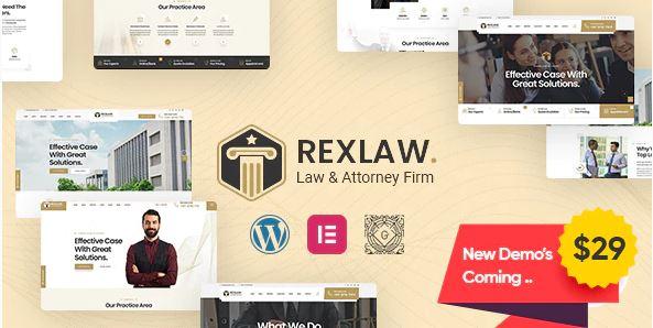Rexlaw это тема WordPress для финансистов
