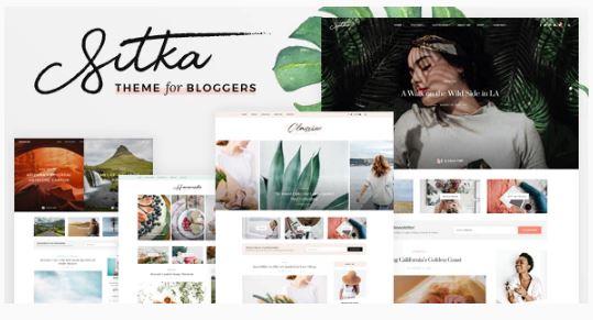 Sitka - современная тема для блогов WordPress 2020