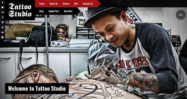 Tattoo Studio - адаптивная тема WordPress