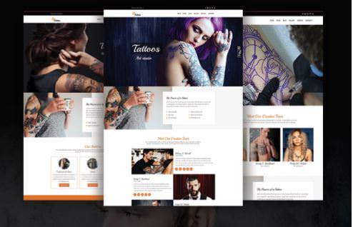 Шаблон Tattoos WordPress